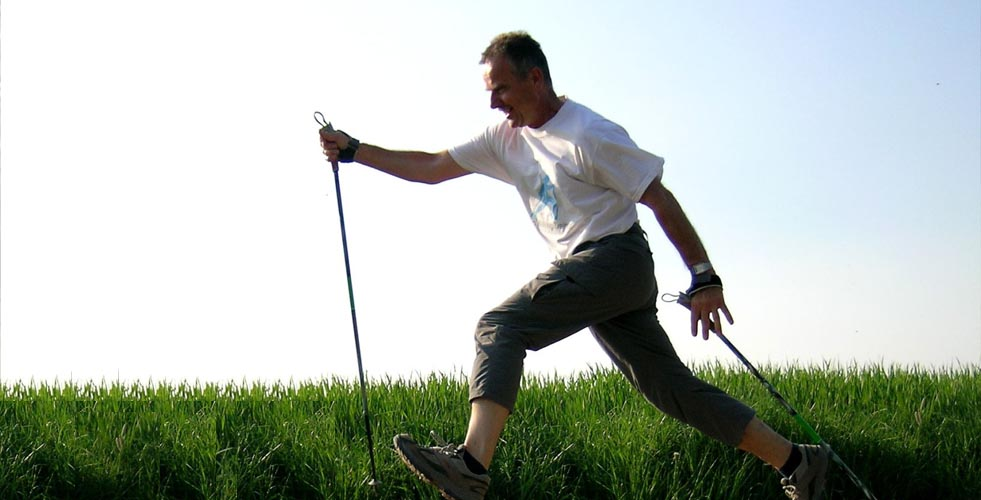 Sportliches Walking